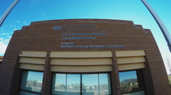 Stock Video Footage of U.S. Department Of Veterans Affairs- Kingman AZ Office- Close Up