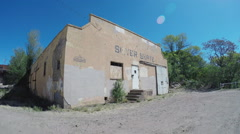 Mid 20th Century Roller Skating Rink- Now Derelict- Silver City NM - stock footage