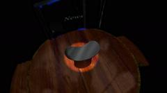 Empty News Desk Animation Stock Footage