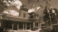 Silver City NM Museum Historic Victorian Era House Sepia Tone Stock Footage