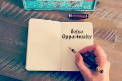 Motivational message SEIZE OPPORTUNITY written on notebook - stock photo
