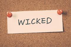 wicked - stock photo