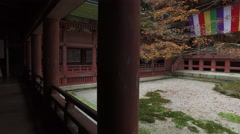 Main Hall at Enryakuji Buddhist Temple in Japan - stock footage