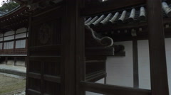 Gate and Hall at Saikyoji Buddhist Temple in Japan Stock Footage