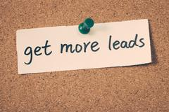 get more leads - stock photo