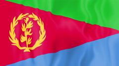 Animated flag of Eritrea Stock Footage