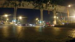 TRAFFICLIGHTS at NIGHT in MUMBAI [Nightlapse] Stock Footage