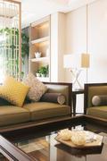 Interior of luxury living room Stock Photos