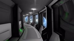Spaceship corridor scene - stock footage