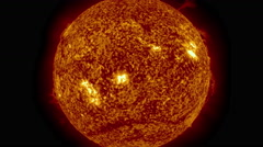 Our Sun, it's solar flares in all its glory Stock Footage