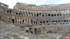 inside of Colosseum, rome, italy, 4k - stock footage