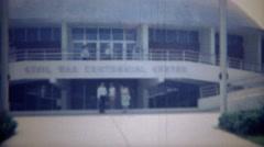 1965: Civil war centennial center sports arena newly built dome. FREDERICKSBURG, Stock Footage