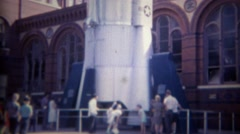 1965: Security at missile museum display shuts down innocent filming. Stock Footage
