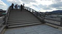 Kintai Bridge in Iwakuni, Japan Stock Footage