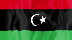 Animated flag of Libya - stock footage