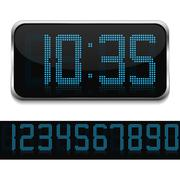 Digital Clock - stock illustration