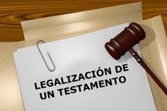 Legalizacion de un Testamento - the Spanish expression for Proba Stock Illustration