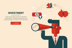 Investment strategy concept - stock illustration