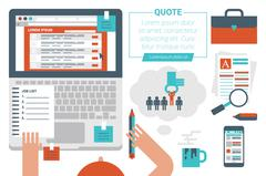 Online Job Searching Concept Stock Illustration
