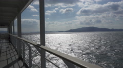 Inland Sea of Japan from Ferry to Shodoshima - stock footage