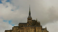 Close up view of mont st michel, france Stock Footage