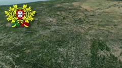Guarda with Coat of arms animation map Stock Footage
