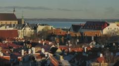 Estonia Tallinn Old Town Stock Footage