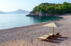 Elite Royal  Beach, Milocer, Montenegro Stock Photos