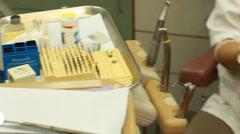 Teenage dentist orthodontist orthodontic doctor medical healthcare clean teeth Stock Footage