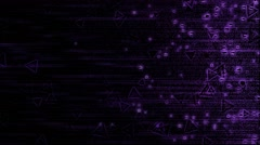 Abstract Triangle Particle Background Animation - Loop Violet Stock Footage