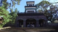 Omiya Shrine in Kanazawa, Japan Stock Footage