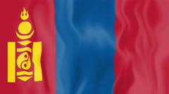 Stock Video Footage of Animated flag of Mongolia