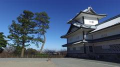 Kanazawa Castle in Japan Stock Footage