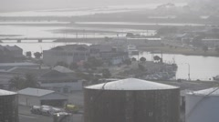 A town in New Zealand. Napier, Hawkes Bay,Industrial town grey day Stock Footage