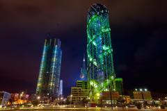 Alphabetic tower in Batumi Stock Photos