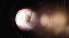 Super 8 projector lens magic Stock Footage