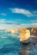 The Twelve Apostles at dawn, Australia Stock Photos