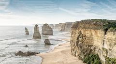 Twelve Apostles at sunrise, Australia Stock Photos