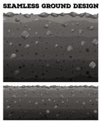 Seamless ground with different layers Stock Illustration