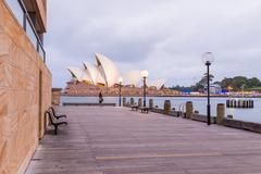 SYDNEY - OCT 12: The Iconic Sydney Opera House is a multi-venue performing ar - stock photo