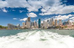 SYDNEY - OCTOBER 12, 2015: City skyline. Sydney attracts more than 10 million Stock Photos