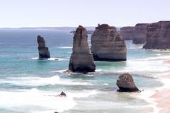 The Twelve Apostles on the Great Ocean Road, Australia Stock Photos