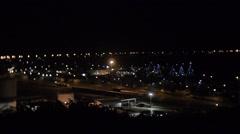 Night Shot quiet Industrial town Stock Footage