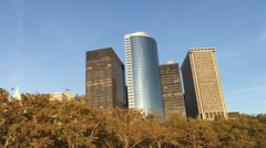 New York Battery Park from Ferry Stock Footage