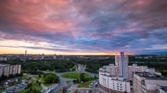 Minsk Bangalore square Cloudy sunset Timelapse 4K Stock Footage