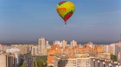 Minsk Balloons festival Balloon in the sky Close timelapse 4K - stock footage