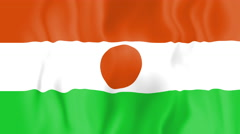 Animated flag of Niger Stock Footage