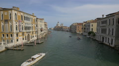 Grand Canal seen from Ponte Dell'Accademia in Venice Stock Footage