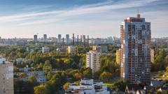 Minsk district Housing complex Sunny day Timelapse 4K Belarus Stock Footage