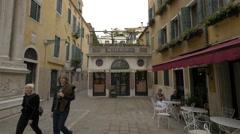 Bevilacqua Mario fabric store in Venice Stock Footage